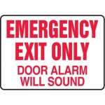 """Accuform MEXT932XT10, 10″ x 14″ Safety Sign """"Emergency Exit Only …"""""""