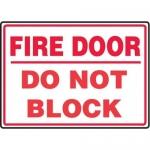"Accuform MEXT933XL10, 10″ x 14″ Safety Sign ""Fire Door …"""