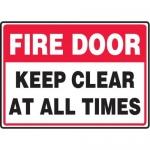 "Accuform MEXT935XT10, 10″ x 14″ Safety Sign ""Fire Door …"""