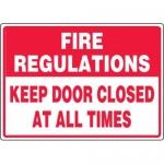 "Accuform MEXT937XL10, 10″ x 14″ Safety Sign ""Fire Regulations …"""