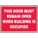 """Accuform MEXT941XT10, 10″ x 14″ Safety Sign """"This Door Must …"""""""