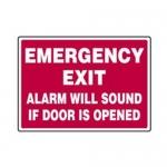 "Accuform MFDR04XL10, 10″ x 14″ Safety Sign ""Emergency Exit …"""