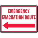 "Accuform MFEX550XV10, 10″ x 14″ Safety Sign ""Emergency Evacuation …"""