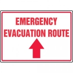 "Accuform MFEX554XV10, 10″ x 14″ Safety Sign ""Emergency Evacuation …"""
