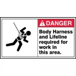 """Accuform MFPR002XF10, 6-1/2″ x 12″ Safety Sign """"Body Harness …"""""""