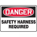 """Accuform MFPR009XV10, 7″ x 10″ Safety Sign """"Safety Harness Required"""""""