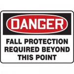 """Accuform MFPR104XV10, 7″ x 10″ Safety Sign """"Fall Protection …"""""""