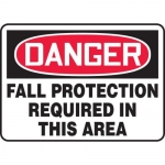 """Accuform MFPR108XL10, 14″ x 20″ Safety Sign """"Fall Protection …"""""""