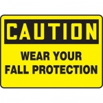 """Accuform MFPR601XV10, 10″ x 14″ Safety Sign """"Wear Your Fall …"""""""