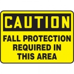 """Accuform MFPR608XV10, 7″ x 10″ Safety Sign """"Fall Protection …"""""""