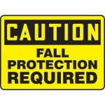 """Accuform MFPR612XV10, 7″ x 10″ Safety Sign """"Fall Protection Required"""""""