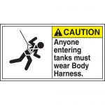 """Accuform MFPR614XF10, 6-1/2″ x 12″ Safety Sign """"Anyone Entering …"""""""