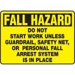 "Accuform MFPR909XV10, 10″ x 14″ Safety Sign ""Do Not Start Work …"""