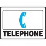 "Accuform MFSD409XT10, 10″ x 14″ First Aid Safety Sign ""Telephone"""