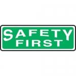 "Accuform MFSD412XT10, 4″ x 12″ OSHA Safety Sign ""Safety First"""