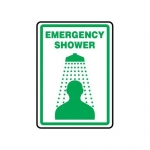 "Accuform MFSD425XT10, 10″ x 7″ Safety Sign ""Emergency Shower"""