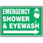 "Accuform MFSD428XV10, 7″ x 10″ Safety Sign ""Emergency Shower …"""