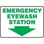 """Accuform MFSD429XT10, 7″ x 10″ Safety Sign """"Emergency Eyewash Station"""""""