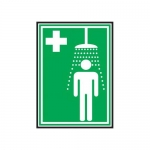 Accuform MFSD435XT10, 10″ x 7″ First Aid Sign Emergency Shower Symbol