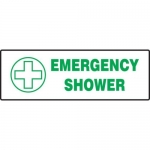 "Accuform MFSD439XT10, 5″ x 14″ Safety Sign ""Emergency Shower"""