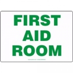 "Accuform MFSD444XT10, 10″ x 14″ Safety Sign ""First Aid Room"""