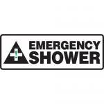 "Accuform MFSD511XT10, 4″ x 12″ Safety Sign ""Emergency Shower"""