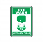 "Accuform MFSD512XT10, 14″ x 10″ Safety Sign ""Eye Wash – Keep Area …"""