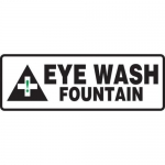 """Accuform MFSD521XT10, 4″ x 12″ Safety Sign """"Eye Wash Fountain"""""""