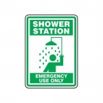 "Accuform MFSD525XT10, 14″ x 10″ Safety Sign ""Shower Station …"""