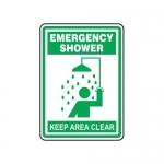 "Accuform MFSD527XT10, 14″ x 10″ Safety Sign ""Emergency Shower …"""