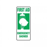 "Accuform MFSD533XT10, 17″ x 7″ Safety Sign ""Emergency Shower"""