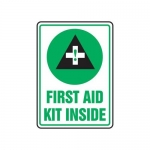 "Accuform MFSD538XT10, 14″ x 10″ Safety Sign ""First Aid Kit Inside"""