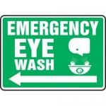 """Accuform MFSD539XT10, 10″ x 14″ Safety Sign """"Emergency Eye Wash"""""""