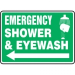 "Accuform MFSD540XT10, 10″ x 14″ Safety Sign ""Emergency Shower …"""
