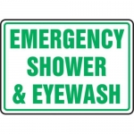 "Accuform MFSD542XT10, 10″ x 14″ Safety Sign ""Emergency Shower …"""