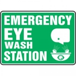 "Accuform MFSD544XT10, 10″ x 14″ Safety Sign ""Emergency Eye …"""