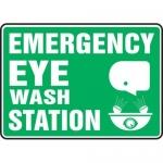 """Accuform MFSD544XT10, 10″ x 14″ Safety Sign """"Emergency Eye …"""""""