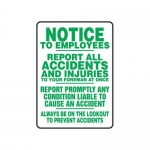"""Accuform MFSD549XT10, 14″ x 10″ Safety Sign """"Report All Accidents …"""""""