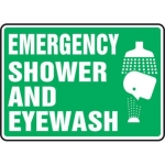 "Accuform MFSD550XT10, 10″ x 14″ Safety Sign ""Emergency Shower …"""