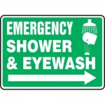 "Accuform MFSD552XT10, 10″ x 14″ Safety Sign ""Emergency Shower …"""