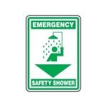 "Accuform MFSD568XT10, 14″ x 10″ Emergency Safety Sign ""Safety Shower"""