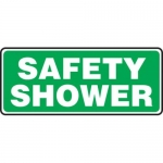 "Accuform MFSD570XT10, 7″ x 17″ Safety Sign ""Safety Shower"""