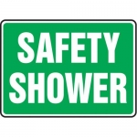 "Accuform MFSD571XT10, 10″ x 14″ Safety Sign ""Safety Shower"""