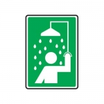 Accuform MFSD574XT10, 10″ x 7″ Safety Sign Shower Symbol