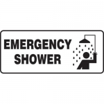 "Accuform MFSD580XT10, 7″ x 17″ Safety Sign ""Emergency Shower"""
