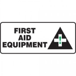 "Accuform MFSD583XT10, 7″ x 17″ First Aid Sign ""First Aid Equipment"""