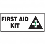 "Accuform MFSD584XT10, 7″ x 17″ Safety Sign ""First Aid Kit"""