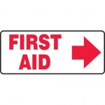 "Accuform MFSD585XT10, 7″ x 17″ Safety Sign ""First Aid"" Dura-Plastic"