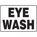 "Accuform MFSD587XT10, 10″ x 14″ Safety Sign ""Eye Wash"" Dura-Plastic"