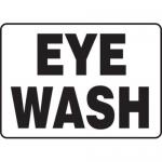 """Accuform MFSD587XT10, 10″ x 14″ Safety Sign """"Eye Wash"""" Dura-Plastic"""